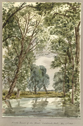 North Reach of the Moat, Landwade May 17th 1848 f12